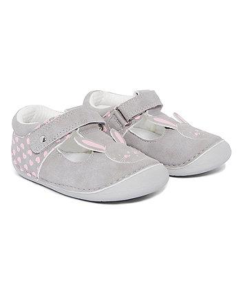 Grey Bunny Crawler Shoes
