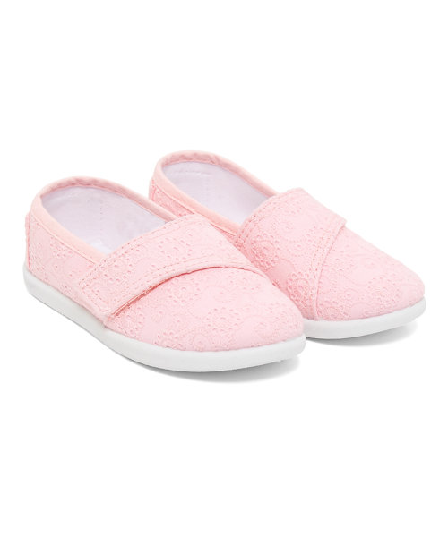 Pink Broderie Canvas Shoes