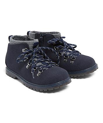 Navy Hiker Boots