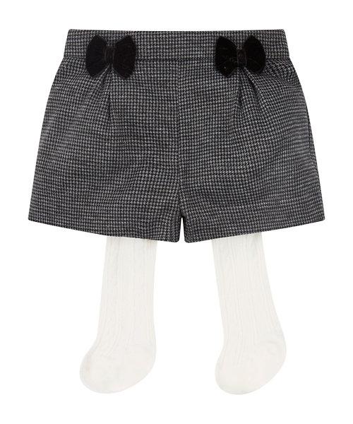 Herringbone Shorts And Tights