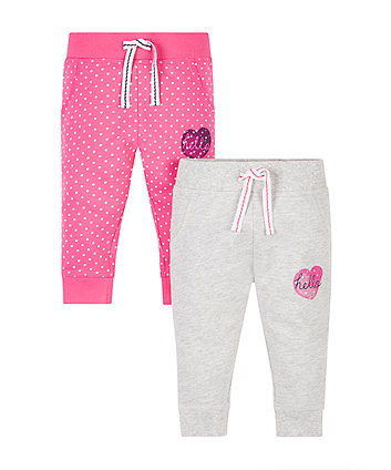 Grey And Pink Joggers - 2 Pack