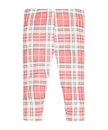 Pink Check Leggings