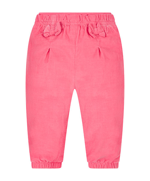 Pink Cord Jersey-Lined Trousers