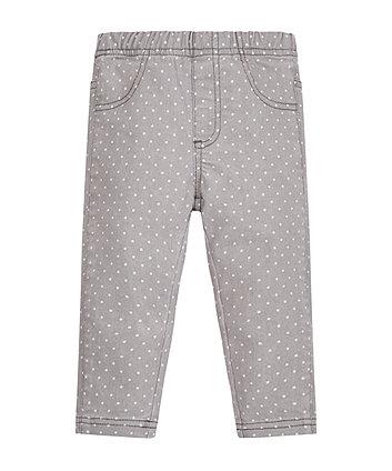 Grey Spotty Jeans