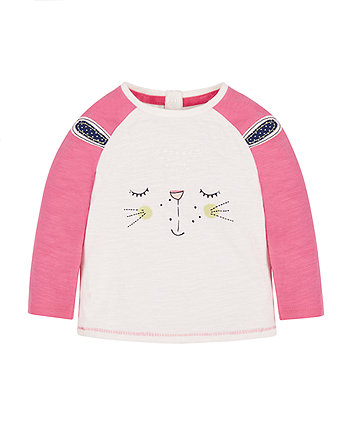 White And Pink Bunny T-Shirt