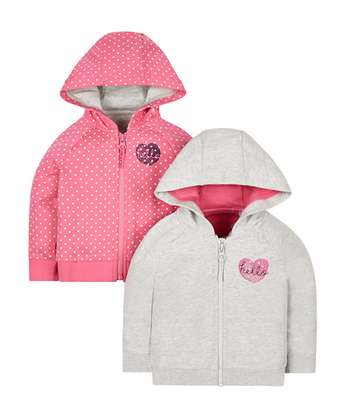 Pink And Grey Hoodies - 2 Pack