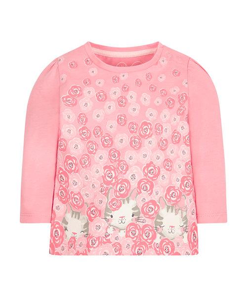 Floral Cat T-Shirt