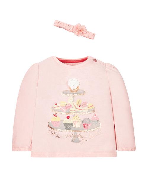 Pink Macaroon T-Shirt And Headband