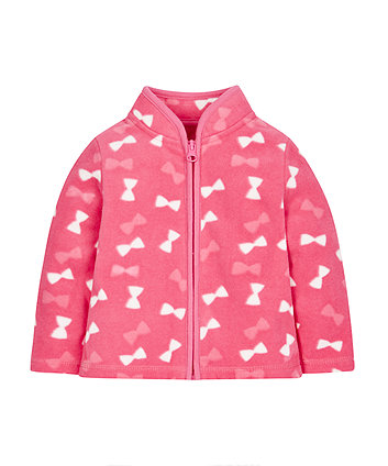 Pink Bow Fleece
