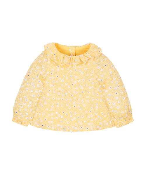 Frilly Mustard Blouse