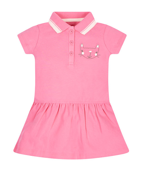 Pink Pique Polo Dress