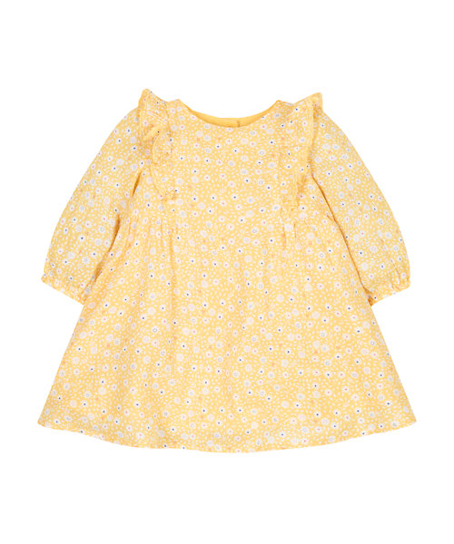 Frilly Mustard Dress