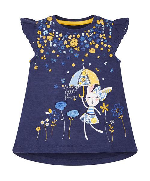 Navy Flower Shower T-Shirt