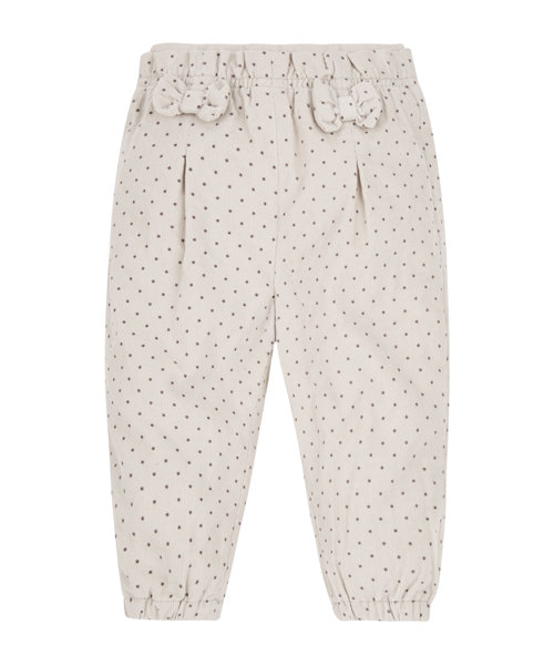 Grey Spotty Jersey Lined Trousers