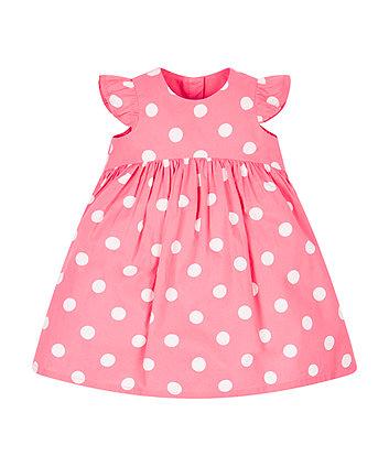 Pink Spotty Dress