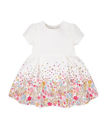 Jacquard Meadow Print Dress
