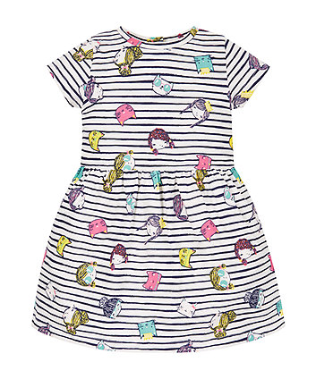 Striped Girls Print Dress