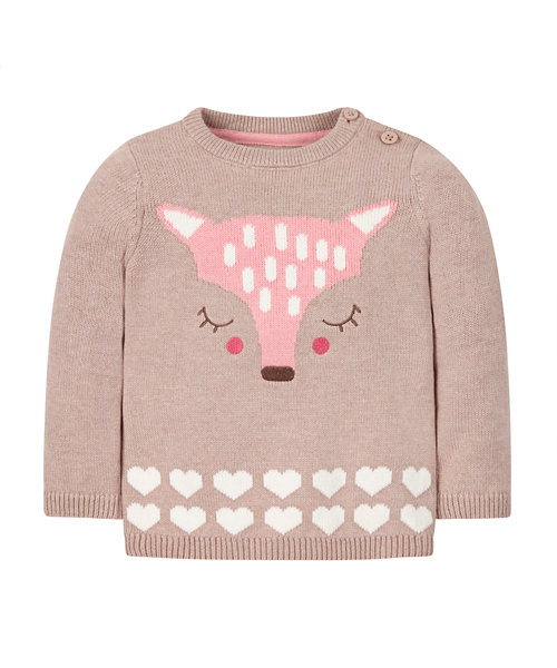 Deer Knitted Jumper