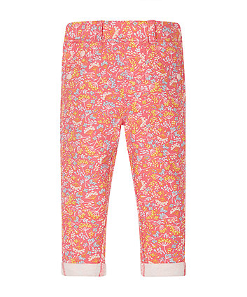 Pink Floral Jeggings