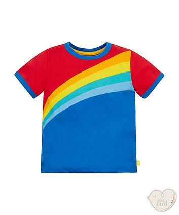 Little Bird By Jools Rainbow Stripe T-Shirt