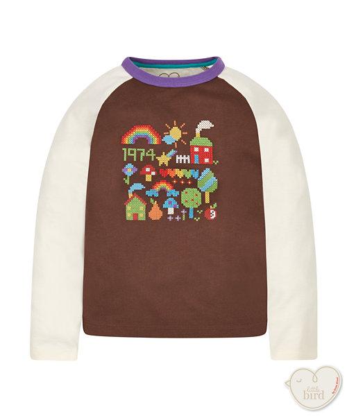 Little Bird By Jools Cross Stitch T-Shirt