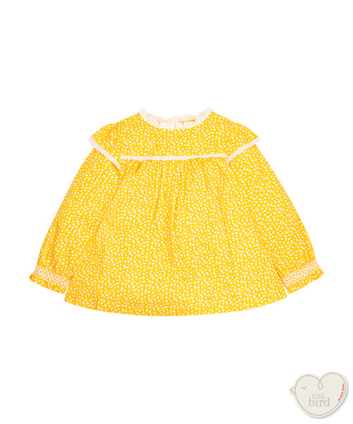 Little Bird By Jools Yellow Ditsy Blouse