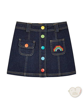 Little Bird By Jools Denim A-Line Skirt