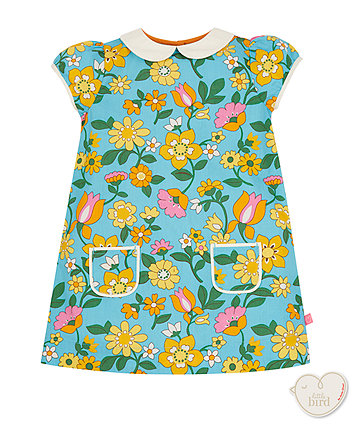 Little Bird By Jools Floral Collar Dress