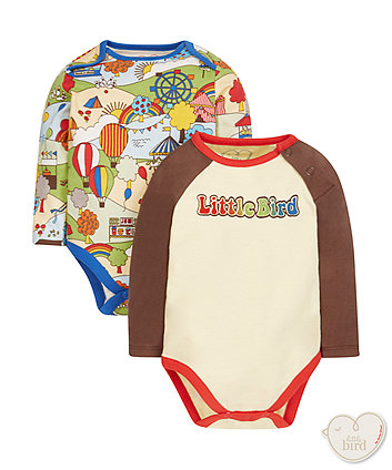 Little Bird By Jools Fete Bodysuits - 2 Pack