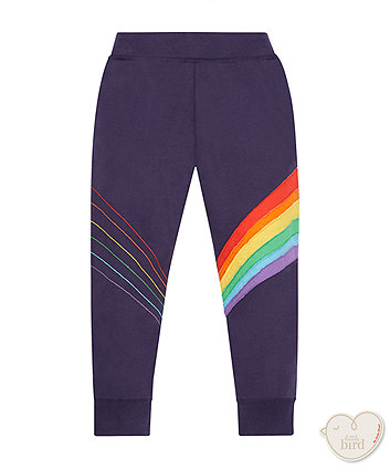 Little Bird By Jools Navy Rainbow Joggers