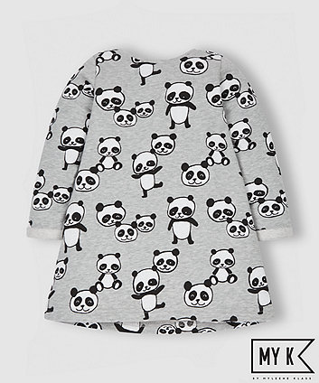 My K Grey Panda Dress