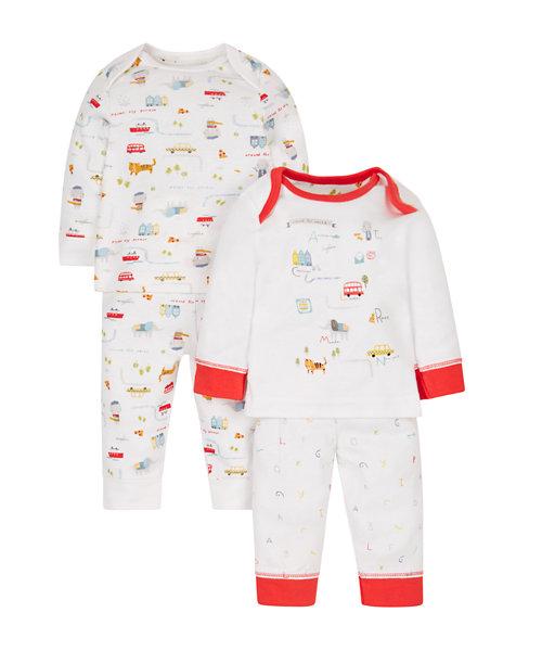 Around The World Pyjamas - 2 Pack
