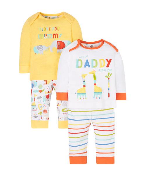 Mummy And Daddy Pyjamas - 2 Pack