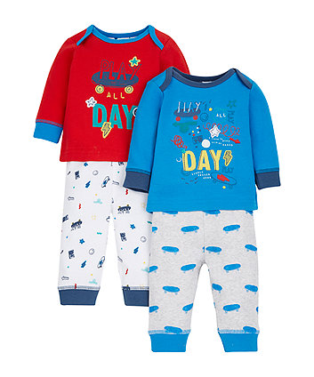 Little Skater Pyjamas - 2 Pack
