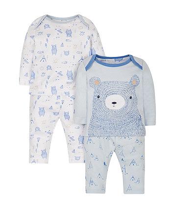 Bear Pyjamas - 2 Pack