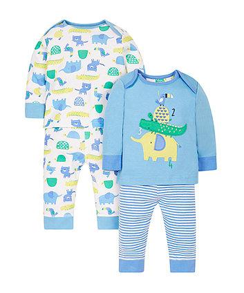 Happy Animals Pyjamas - 2 Pack