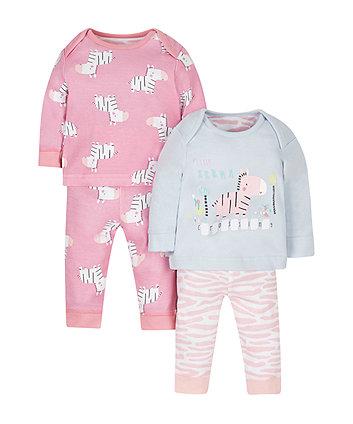 Little Zebra Pyjamas - 2 Pack