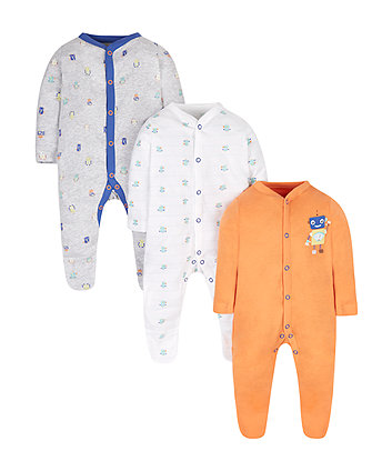 Robots Sleepsuits - 3 Pack