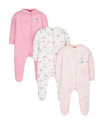 Little Bird Sleepsuits - 3 Pack