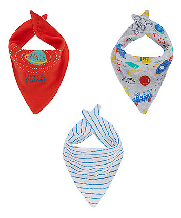 Happy Planet Bandanna Bibs - 3 Pack