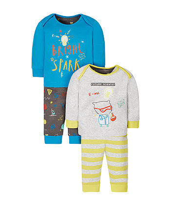 Future Scientist Pyjamas - 2 Pack