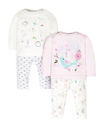 Little Birdy Pyjamas - 2 Pack