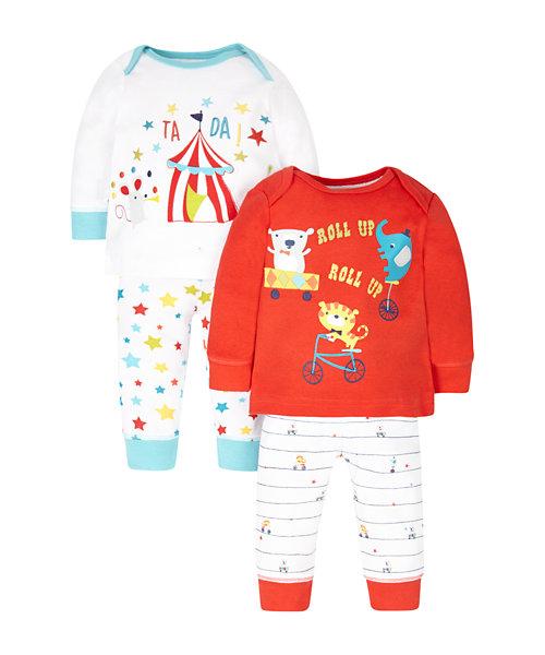 Circus Pyjamas - 2 Pack