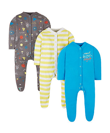 Future Scientist Sleepsuits - 3 Pack