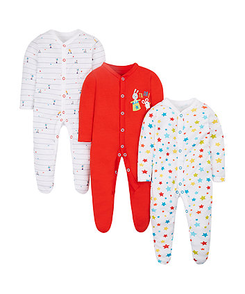 Circus Sleepsuits - 3 Pack
