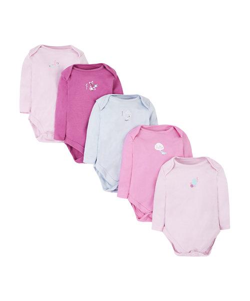 Little Birdy Bodysuits - 5 Pack