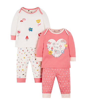 Oh So Tiny Pyjamas - 2 Pack