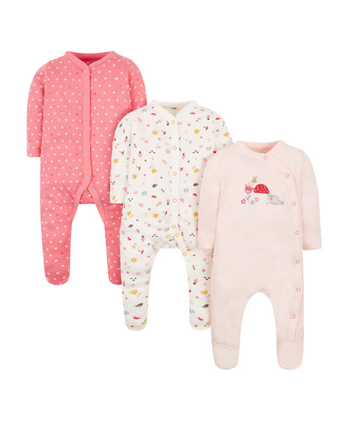 Oh So Tiny Sleepsuits -3 Pack
