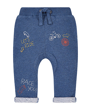 Bicycle Embroidered Joggers