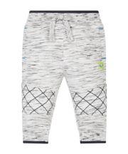 Grey Slub Biker Joggers